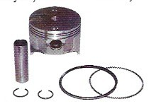 Piston & Ring Assembly  EZGO 2-Cycle 1989 to 1993 .50 MM Oversized