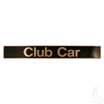 Name Plate Black & Gold Club Car Model Precedent 2004 & UP # BP-0054-OEM