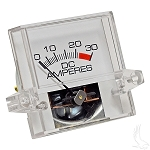 Ammeter 30 AMP Square Gauge E-Z-GO Powerwise Chargers & Powerwise Plus # CGR-063