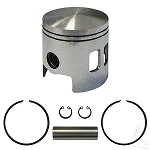 Piston and Ring Assembly  .25mm Oversized E-Z-GO Model 2 Cycle Gas 1989 to 1993 # ENG-131