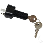 Key Switch Uncommon Key 2 Terminals Club Car Model DS 48-Volt 1996 to 2002 # KEY-65
