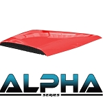 Red Hood Scoop for ALPHA Body Kits Club Car Precedent 2004 & UP # 05-041