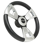 Gussi Italia® Steering Wheels Black/Brushed New Italian Hand Made Luxury Line Yamaha Model G16-Drive 2 # 06-116