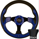 Steering Wheel and Black Adapter Kit Blue Rally Yamaha Models G16/Drive2 # 06-056