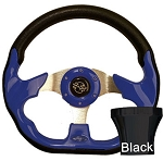 Steering Wheel and Black Adapter Kit Blue Racer Yamaha Models G16/Drive2 # 06-096