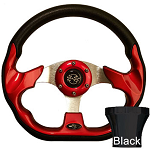 Steering Wheel and Black Adapter Kit Red Racer Yamaha Models G16/Drive2 # 06-100
