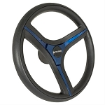 Gussi Italia® Brenta Steering Wheels Black/Blue New Italian Hand Made Luxury Line E-Z-GO Model TXT / RXV # 06-137