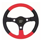Steering Wheel FORMULA GT Black & Red Universal Fit # 28543