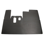 Floor Mat Heavy Duty Black Rubber with a Wide Ribbed Texture For Yamaha Models G14/G16/G19/G22 # 34156