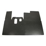 Floor Mat Heavy Duty Black Rubber with a Diamond Plate Texture For Yamaha Models G14/G16/G19/G22 # 34164
