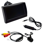 Rearview Camera Package for LSV Flush 12 VOLT Mount Camera and 4.3
