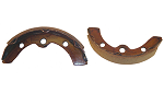 Brake Shoes SET OF 2 Long Rear E-Z-GO 1987 to 1996 & 2009 & UP # BRK-013