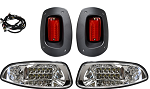 Factory Style Light Kit LED Headlights w/ Clear Lenses/LED Taillights E-Z-GO Model RXV 2008 to 2015 # LGT-310LC
