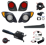 LED Light Kit 12-48V Adjustable w/ Brake Switch Yamaha Drive2 No Return, No Exchange, No Refund # LGT-403LT3B12