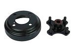 Heavy Duty Brake Drum/Hub Assembly by Ausco for E-Z-GO Models TXT Gas Golf Carts 1982 & UP # PK.2126