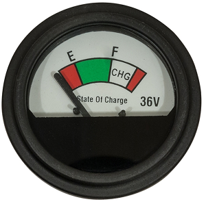 State of Charge Round Analog Meter