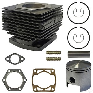 Cylinder-Piston Top End Overhaul Kit E-Z-GO Model 2-Cycle Gas 1980 to 1988 # 4554-ENG-127